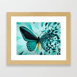 Butterfly effect green Framed Art Print