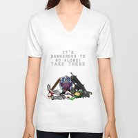 gamer V-neck T-shirts featuring Gamer  by Ioana Muresan