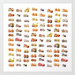 Sushi set Art Print