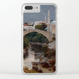 An Old bridge in Mostar Clear iPhone Case