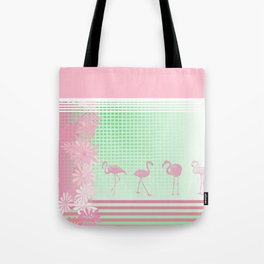 Baby Pink And Mint Green Flamingo Tote Bag