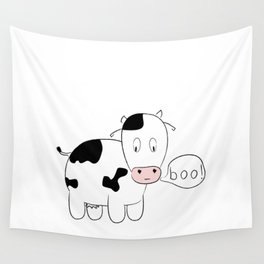 SOLD! Scary Cow - Inspired by a True Incident! Wall Tapestry