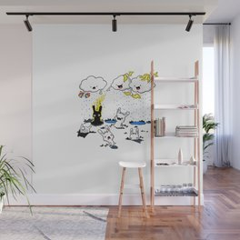 Cloudy with a Chance of Jerks Wall Mural