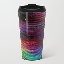 Glitch Space background. Old TV Travel Mug