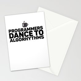 Programmers Dance To Algorithms Gift for Coder Stationery Cards