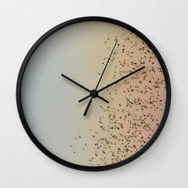 Red Billed Quelea Bird Abstract Wall Clock