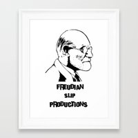 freud Framed Art Prints featuring Freud by Freudian Slip Producions