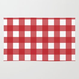 Buffalo Plaid in Red Rug