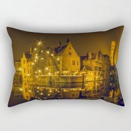 Night at Brugge Rectangular Pillow