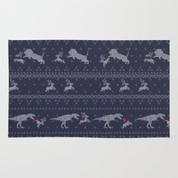 sweater Area & Throw Rugs featuring Ugly Sweater by Sarinya  Withaya