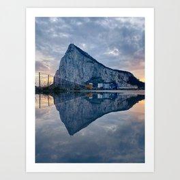 The rock of Gibraltar Art Print