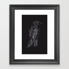 Black Bird (2) Framed Art Print