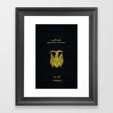 Old Kuwaiti Passport Framed Art Print
