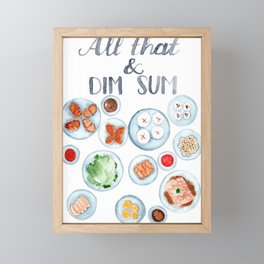 All that & dim sum Framed Mini Art Print