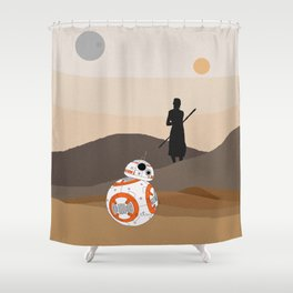 The Force is Here Shower Curtain