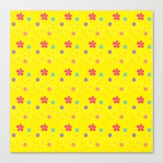 Flowers in buttercup Canvas Print