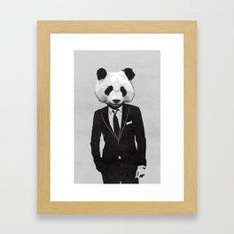 Panda Suit Framed Art Print