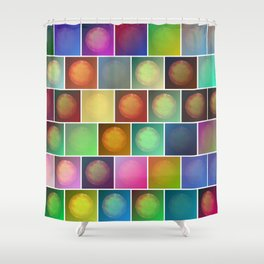 Multicolored suns Shower Curtain