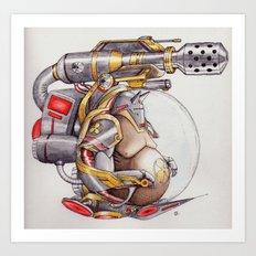 the tank Art Print