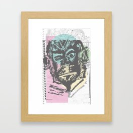 Monkey Sketch Framed Art Print