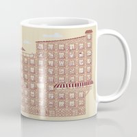 the neighbourhood Mugs featuring Periodic Neighbourhood by Salih Gonenli