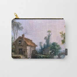 Landscape with a Watermill - Francois Boucher (1703-1770) Carry-All Pouch