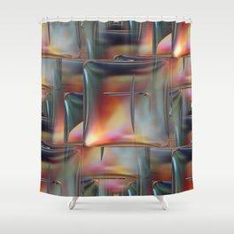 Mirrored Metallic Tile Shower Curtain