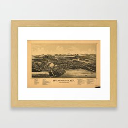 Aerial View of Wolfeborough, New Hampshire (1889) Framed Art Print