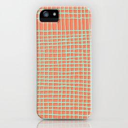 Left - Orange and green iPhone Case