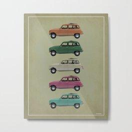 Five Renault 4's Metal Print