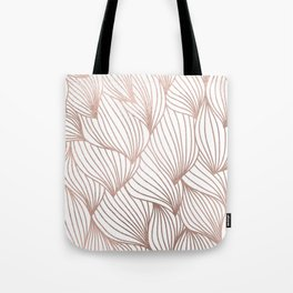 Rose gold petals Tote Bag