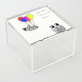 To be a Flying Penguin Acrylic Box