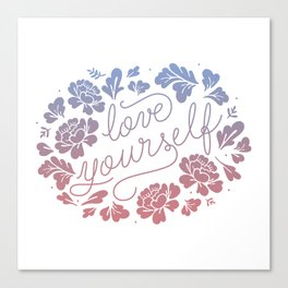 Love yourself color Canvas Print