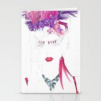 burlesque Stationery Cards featuring Burlesque by Kats Illustration