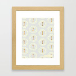 The key pattern Framed Art Print