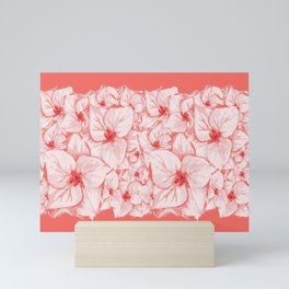 coral flower Mini Art Print