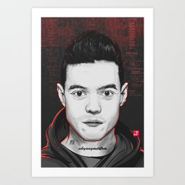 Mr.Robot Art Print