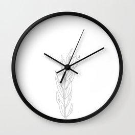 Minimal Olive Branch Illustration Wall Clock