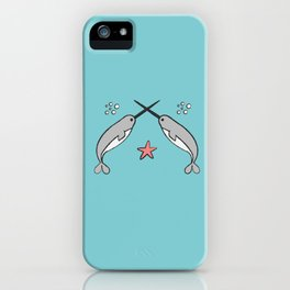 Narwhal knights iPhone Case