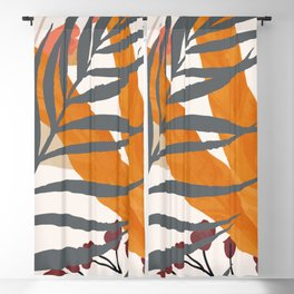 Colorful Red Leaves Blackout Curtain
