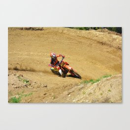 Turning Point Motocross Champion Race Canvas Print