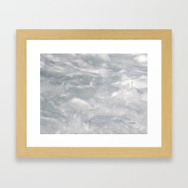 TEXTURES: Laguna Beach Sea Foam #1 Framed Art Print