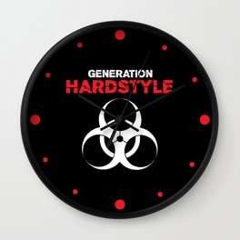 Generation Hardstyle Music Quote Wall Clock