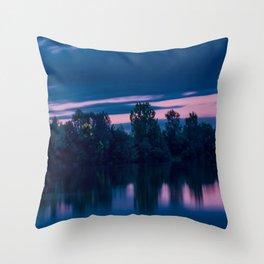 Dredging lake in Baden-Wurttemberg Throw Pillow