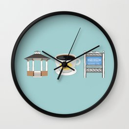 The Town of Stars Hollow Wall Clock
