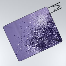 ULTRA VIOLET Glitter Dream #1 #shiny #decor #art #society6 Picnic Blanket