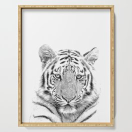 Black and white tiger Serving Tray