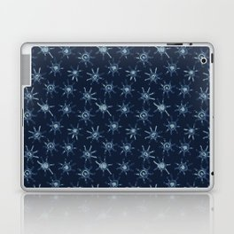 Sun Batik Dye Indigo Blue Hand Drawn Grunge Laptop & iPad Skin