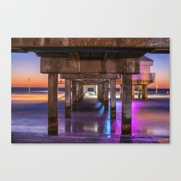 Set the Controls for the Heart of the Pier Canvas Print