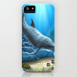 The World Of The Dolphin iPhone Case